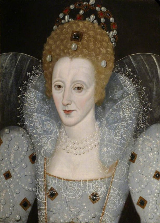 British School; Elizabeth I (1533-1603); St John's College, University of Cambridge; http://www.artuk.org/artworks/elizabeth-i-15331603-139308