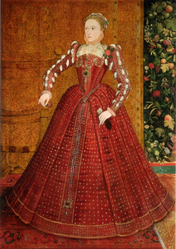 The Hampden Portrait of Elizabeth I, by Van Der Meulen, 1560s
