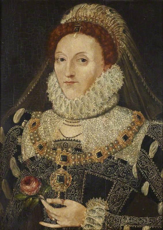 Hilliard, Nicholas; Elizabeth I (1533-1603); National Trust, Anglesey Abbey; http://www.artuk.org/artworks/elizabeth-i-15331603-169943