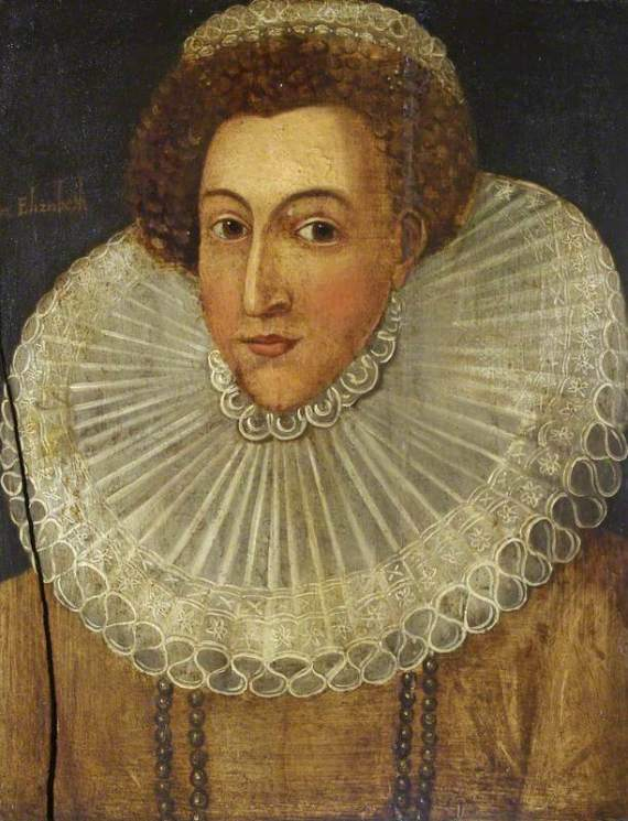 British (English) School; Elizabeth I (1533-1603); National Trust, Westwood Manor; http://www.artuk.org/artworks/elizabeth-i-15331603-99998