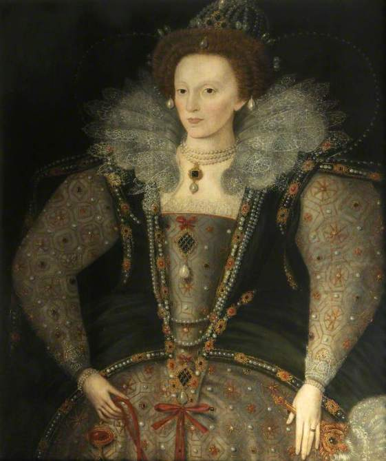 unknown artist; Elizabeth I (1533-1603); Christ Church, University of Oxford; http://www.artuk.org/artworks/elizabeth-i-15331603-228975