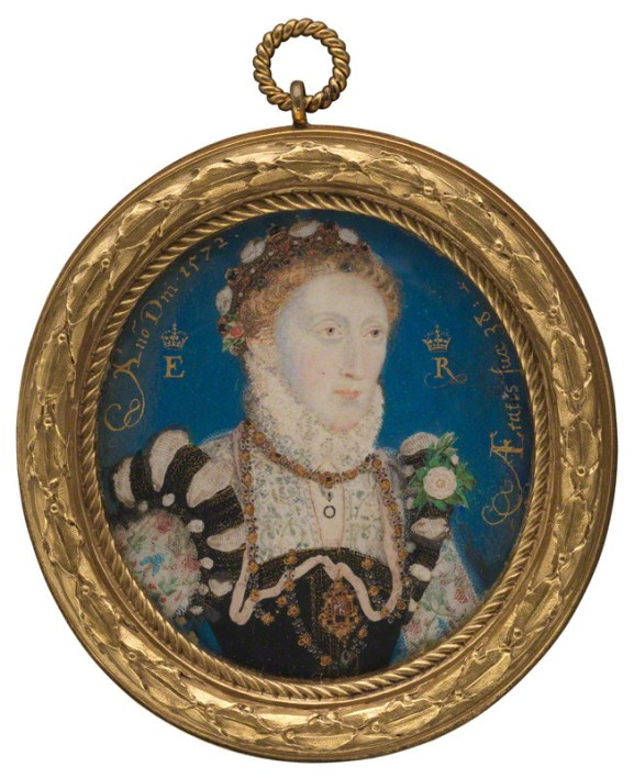 by Nicholas Hilliard, watercolour on vellum, 1572