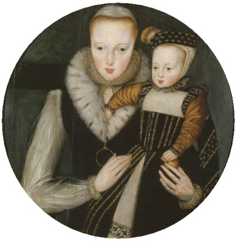 Lady Catherine Grey with her elder son Edward, Lord Beauchamp