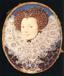 Lettice Knollys, Countess of Leicester attributed to George Gower, c.1585.