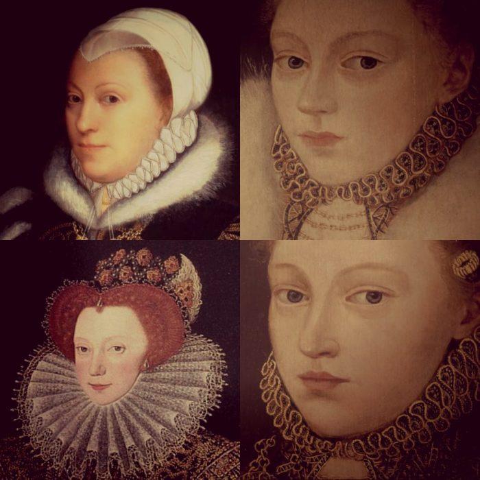 Clockwise: Catherine Carey, Elizabeth, Mary, Lettice Knollys