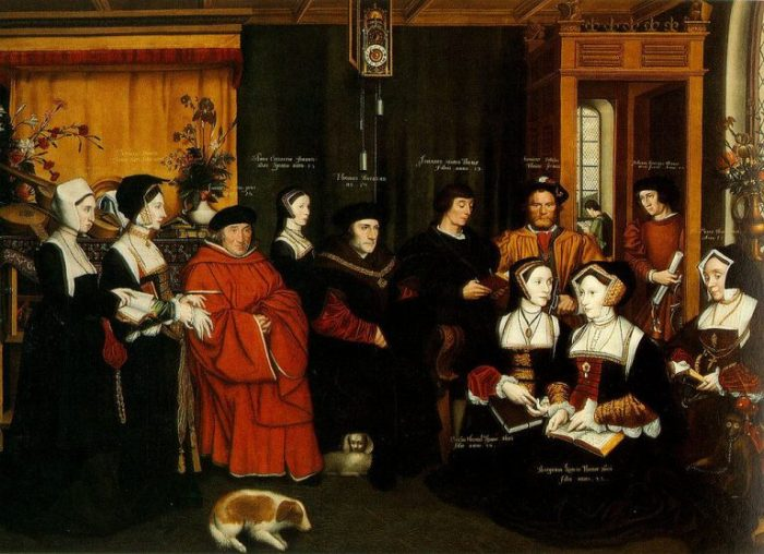 Rowland Lockey after Hans Holbein the Younger, The Family of Sir Thomas More