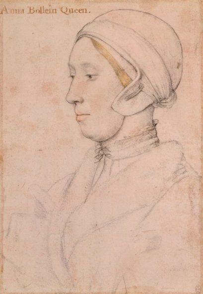 Hans Holbein sketch thought to be Anne Boleyn