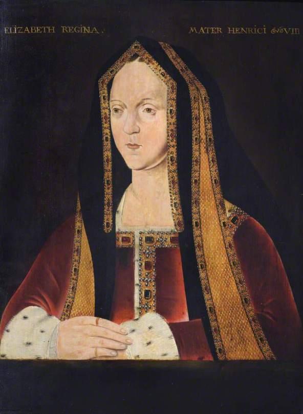 unknown artist; Elizabeth of York (1466-1503), Queen Consort of Henry VII; Trinity College, University of Cambridge; http://www.artuk.org/artworks/elizabeth-of-york-14661503-queen-consort-of-henry-vii-134829