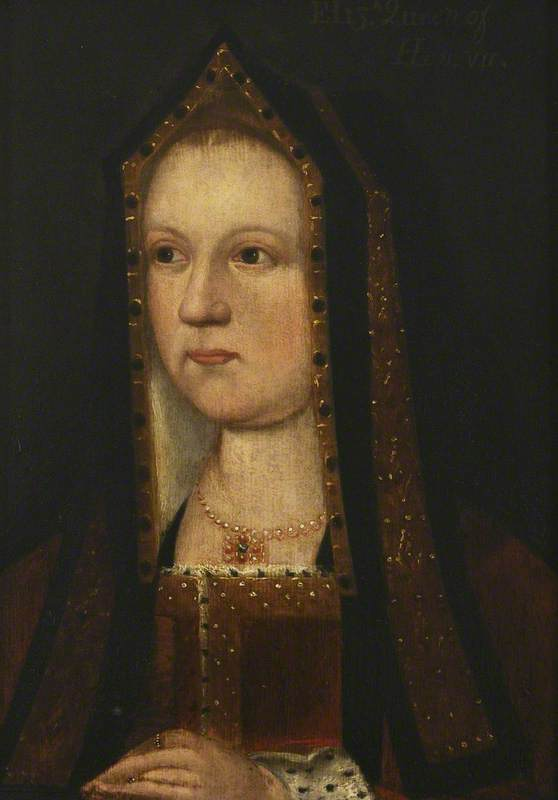 unknown artist; Elizabeth of York (1465-1503); Christ Church, University of Oxford; http://www.artuk.org/artworks/elizabeth-of-york-14651503-229294