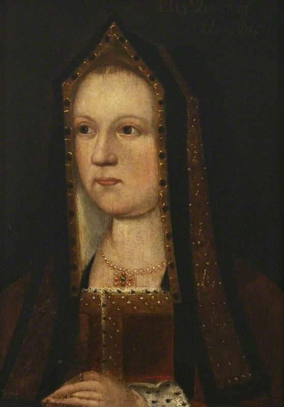 unknown artist; Elizabeth of York (1465-1503); Christ Church, University of Oxford; http://www.artuk.org/artworks/elizabeth-of-york-14651503-229294