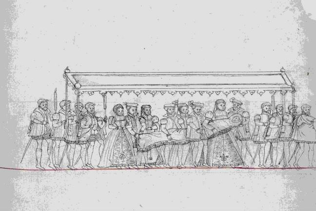 The Procession for the Christening of Edward, Prince of