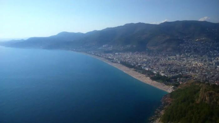 Panoramablick Kleopatra Strand Alanya