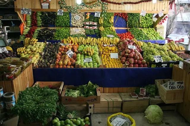 Obst Bazar Stand in der Türkei