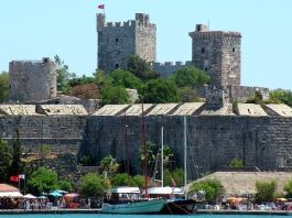 Johanniter Burg am Hafen von Bodrum.