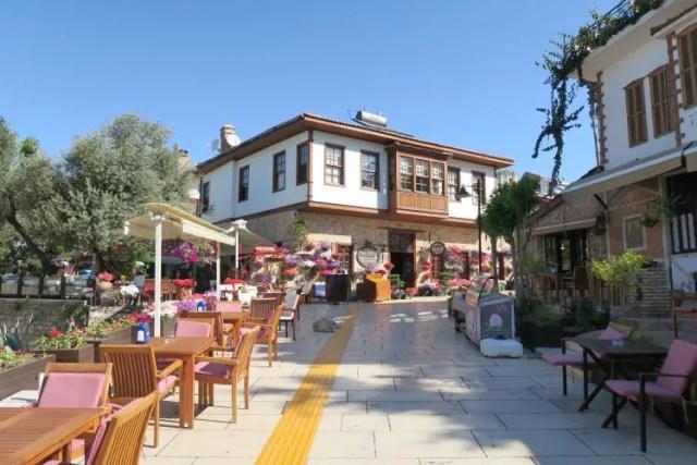 Das zum Odile Boutiqe Hotel gehörende Restaurant in Antalyas Altstadt Kaleici.