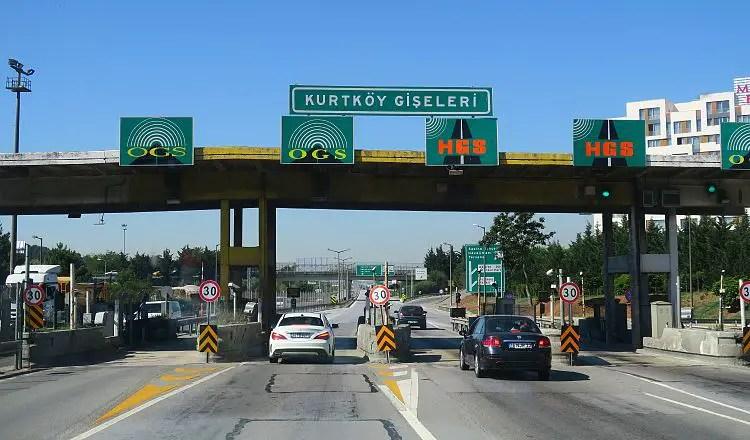 Eine Mautstation auf der Autobahn in Istanbul.