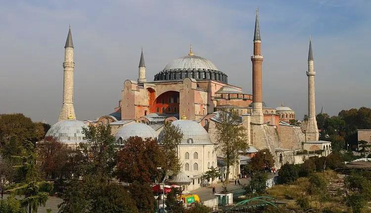 Aussicht auf die Hagia Sophia
