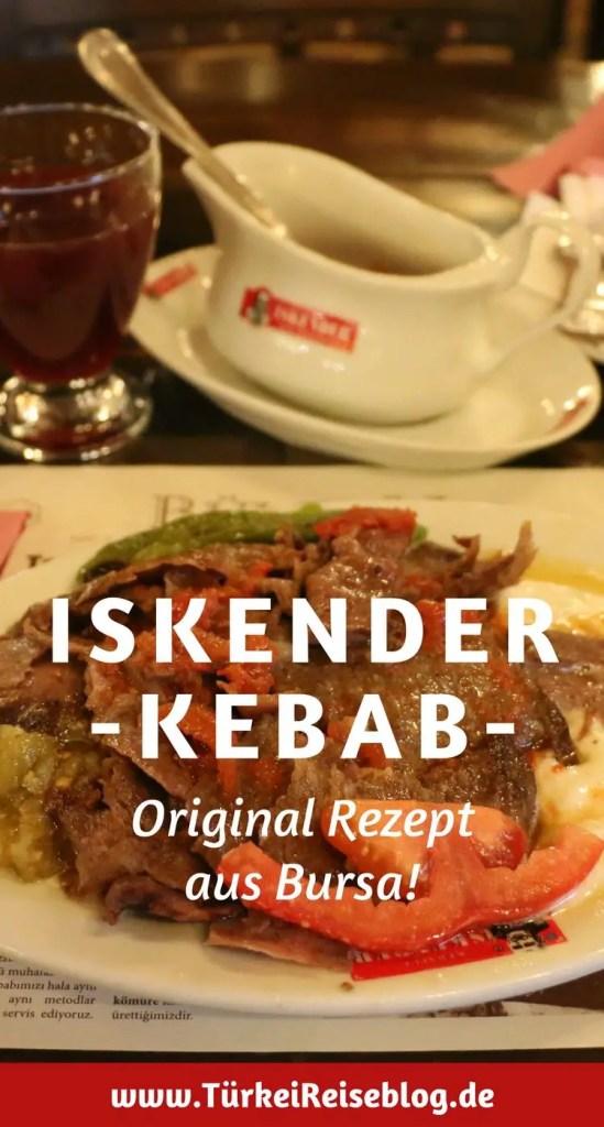 Der echte Iskender Kebab aus der Iskender Efendi Konagi in Bursa.