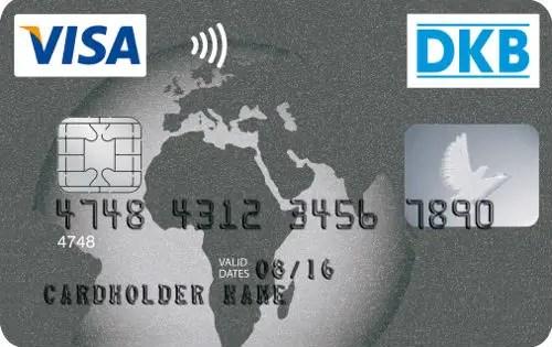 Kreditkarte in Platin. Als Verzierung ist eine Karte von Europa, Asien und von Afrika zu sehen.