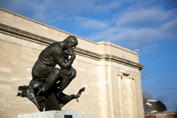 """"""" Thinker"""" Thought Rodin 100 Years Exhibit Cleveland Museum Of Art"""