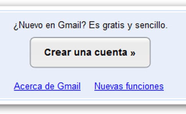 Crear Gmail Cómo Crear Una Cuenta De Correo En Gmail