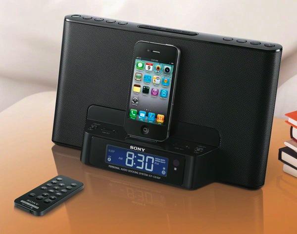 Sony ICFDS15iP un radiodespertador con base para iPhone  tuexpertocom
