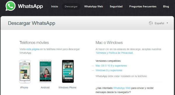 whatsapp aplicación nativa