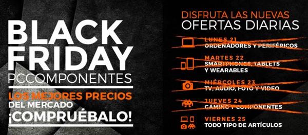 las diez superiores ofertas de pccomponentes por black friday