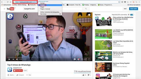 Bajar vídeos de YouTube