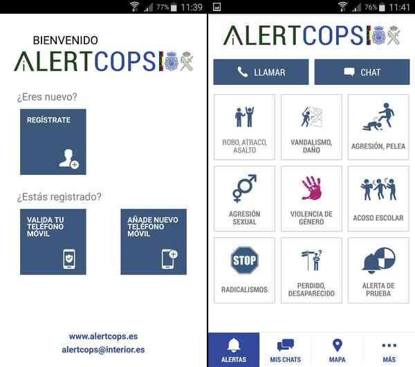 AlertCops App Android