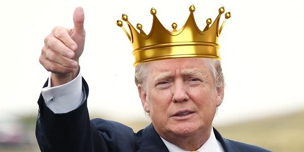 donald trump king