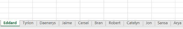 Ordenar pestañas de Excel