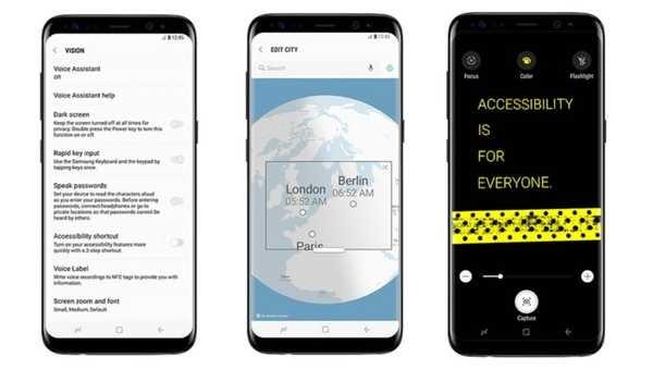 Samsung ©Galaxy S8 y S8+, más fáciles para individuos limitadas
