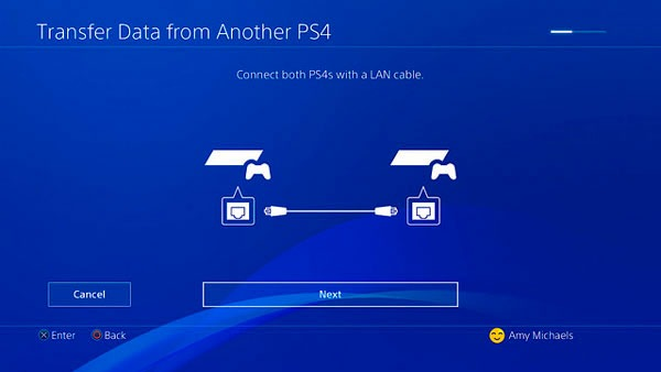 transferir datos(info) ps4 cable red