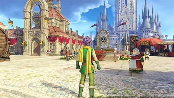 La primera ciudad a la que se llega en Dragon Quest Horoes 2