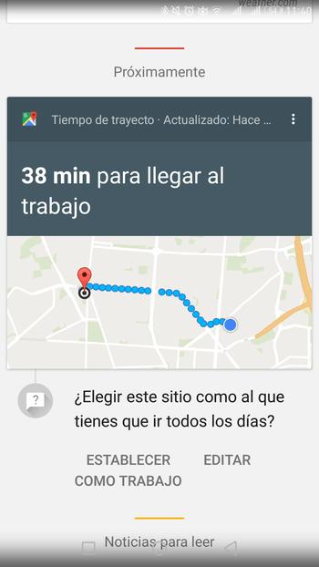 google now información del tráfico