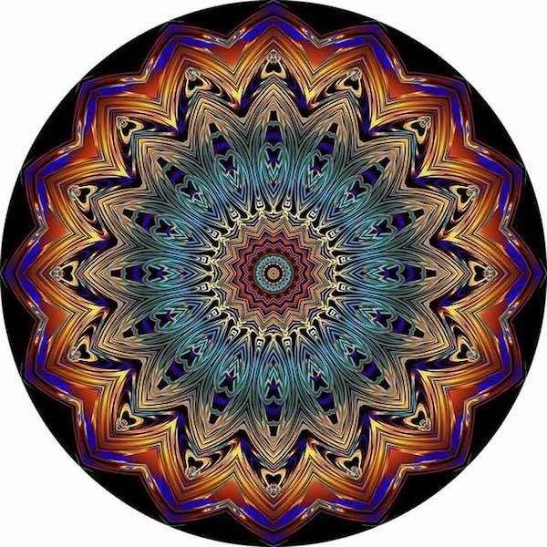 Mandalas Faciles De Dibujar A Color