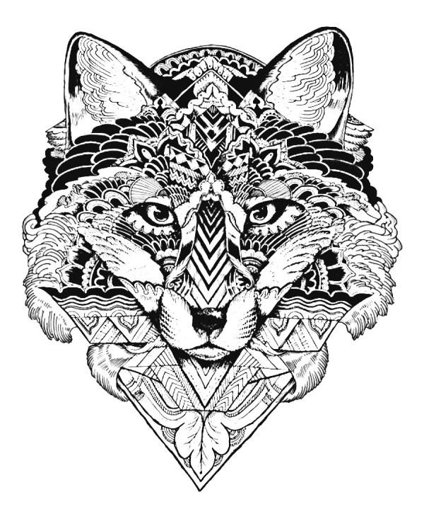 mandala para colorear de tigre