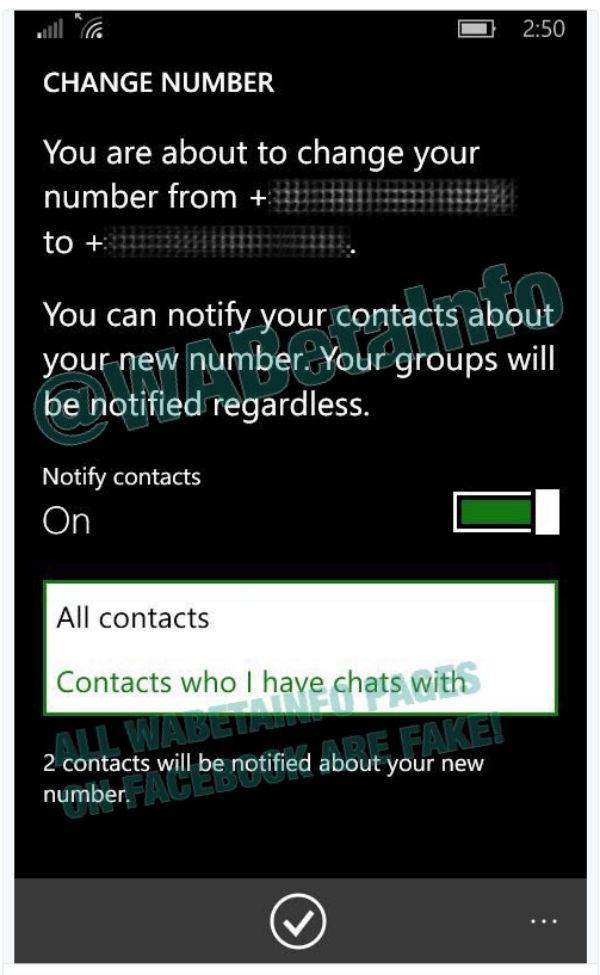 Cambiar de número