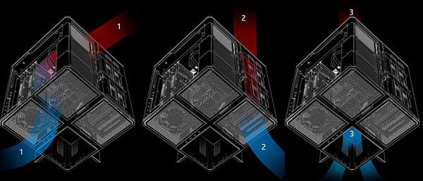 analisis gama HP Omen cubo Omen X ventilacion