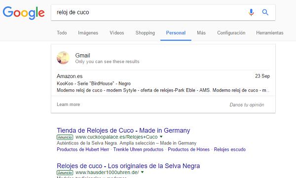 Así es la noticia pestañita de busca de Google para ordenador y móvil