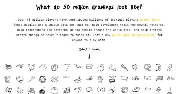 Google muestra los dibujos que han hecho millones de personas