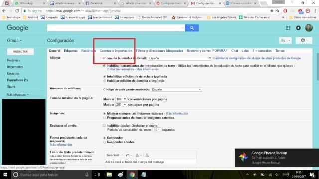 añadir cuenta de correo en gmail 2