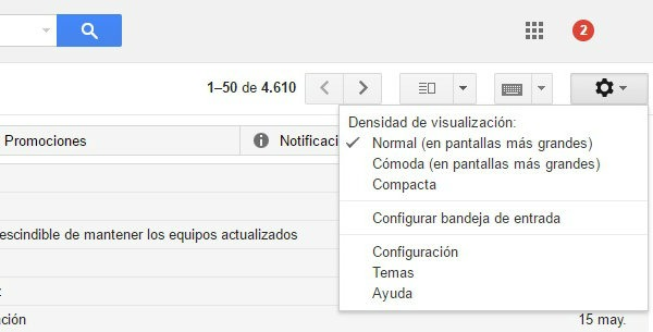gmail notificaciones