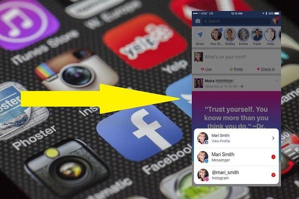 notificaciones en Instagram℗ messenger facebook