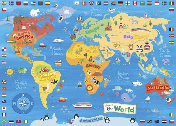 mapas del mundo(planeta) niños