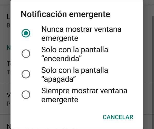 notificacion emergente whatsapp
