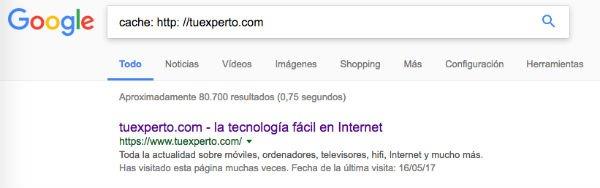 Google caché