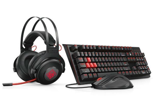 Teclado, ratón, auriculares y mousepad HP OMEN para gamers