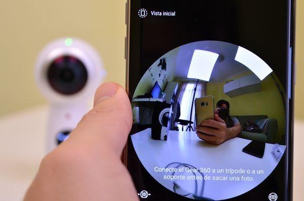 Samsung Gear 360 con o sin el móvil